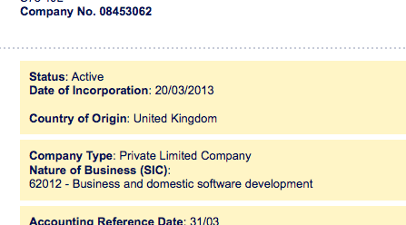 MKDO Ltd compay info
