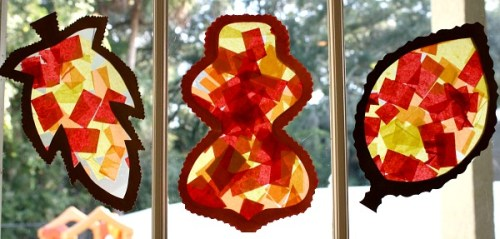 Autumn Leaf Suncatchers 2