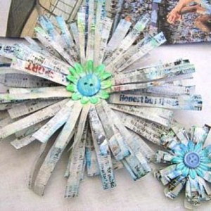 Upcycle art_Newspaper Creations Kids