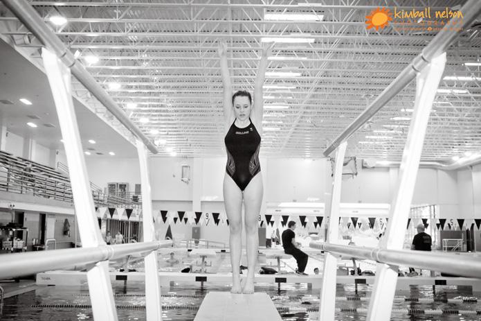 diving senior photos