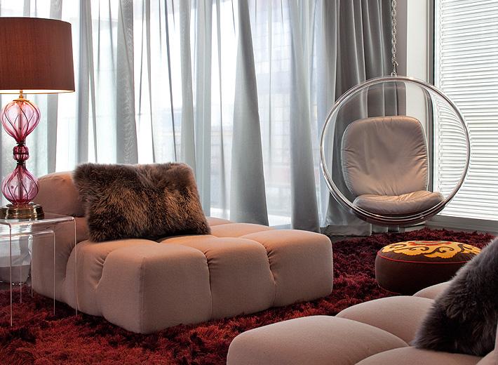 Vibrant Modern Bachelor Pad  Kimball Starr Interior Design