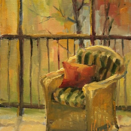 Franny's chair 10 x 8