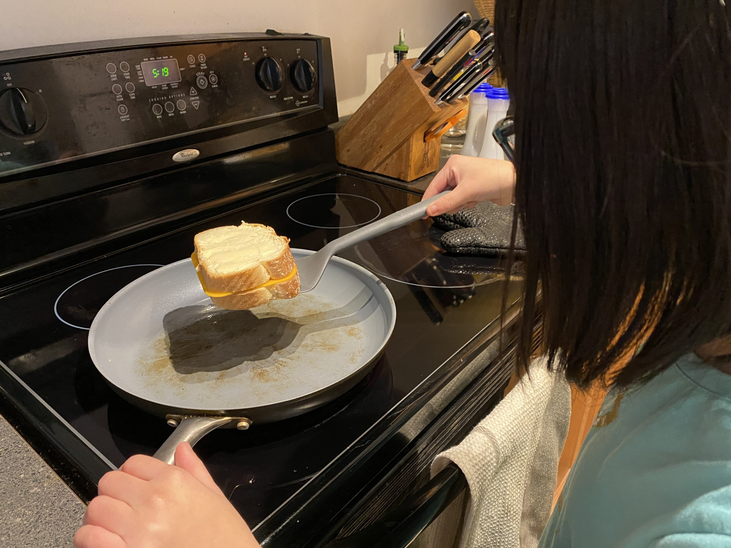 Grilled Cheese in Progress