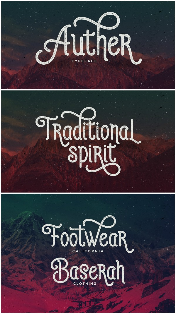 Font Favorites: Auther Font. This is a great font for manly projects! Decorative but not too feminine