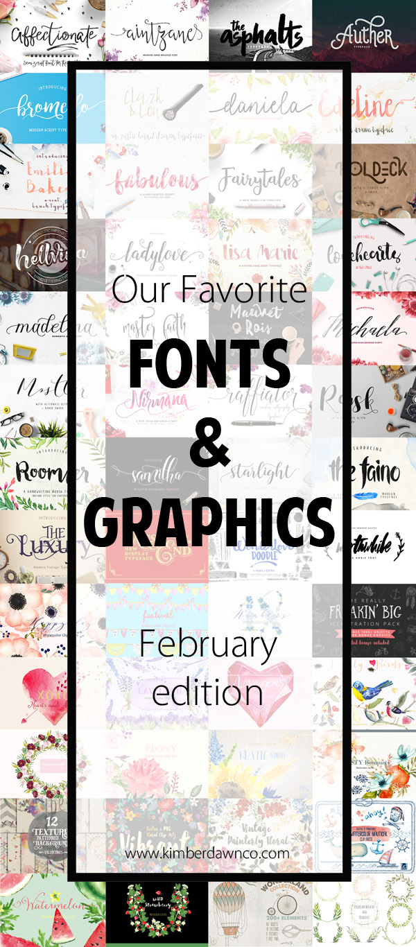 Our favorite fonts and clip art! Lots of great script fonts with swirls and swashes, along with some fabulous brush fonts and so much MORE!