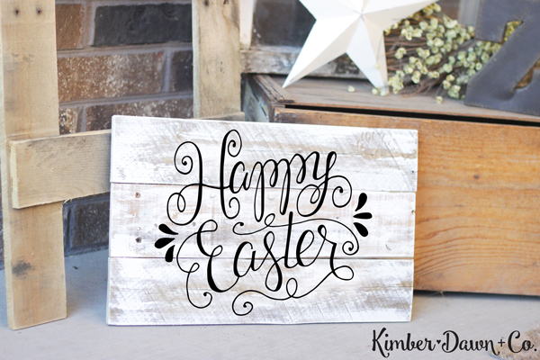 Hand Lettered Happy Easter Free SVG Cut File