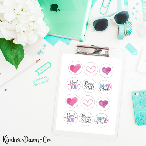 Sweetheart Envelope Sealers Free Silhouette Cut File