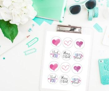 Sweetheart Envelope Sealers Free Silhouette Cut File
