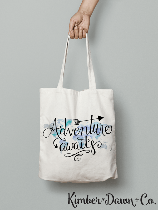 Freebie Friday! Hand Lettered Adventure Awaits Free SVG Cut File (also available in PNG and STUDIO3) | kimberdawnco.com