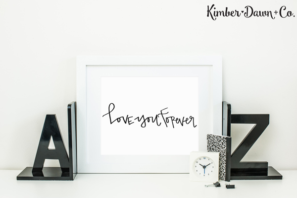 Hand Lettered Love You Forever Free SVG Cut File in PNG, SVG and STUDIO3 formats! |kimberdawnco.com