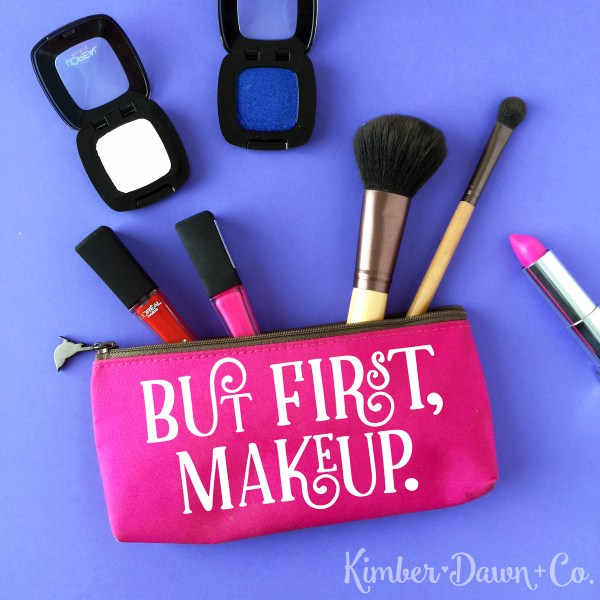 Freebie Friday! But First Makeup Free SVG Cut File | kimberdawnco.com