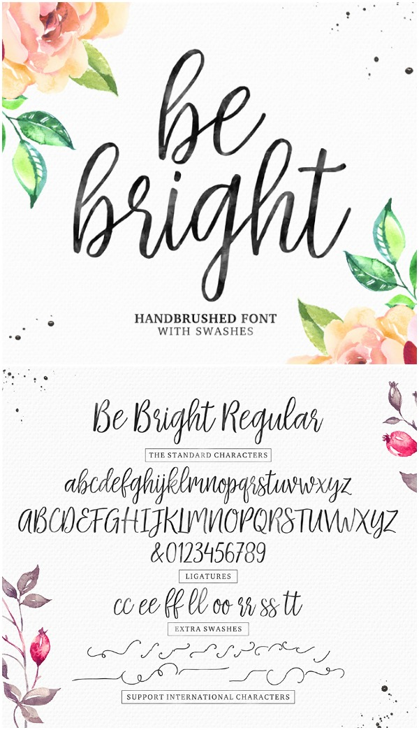 Be Bright font - this font is absolutely stunning! It is perfect to have something formal but not too fancy!