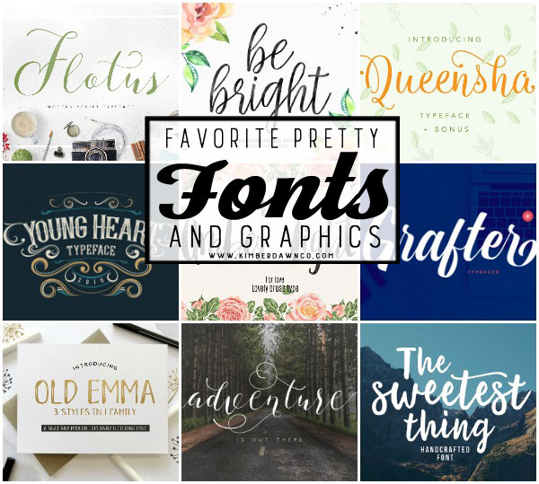 Some of my FAVORITE fonts! You are going to totally SWOON over these!