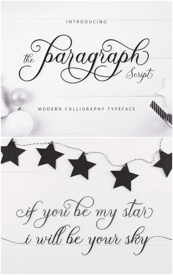 Paragraph font- This font is so pretty! I love all of the swirls