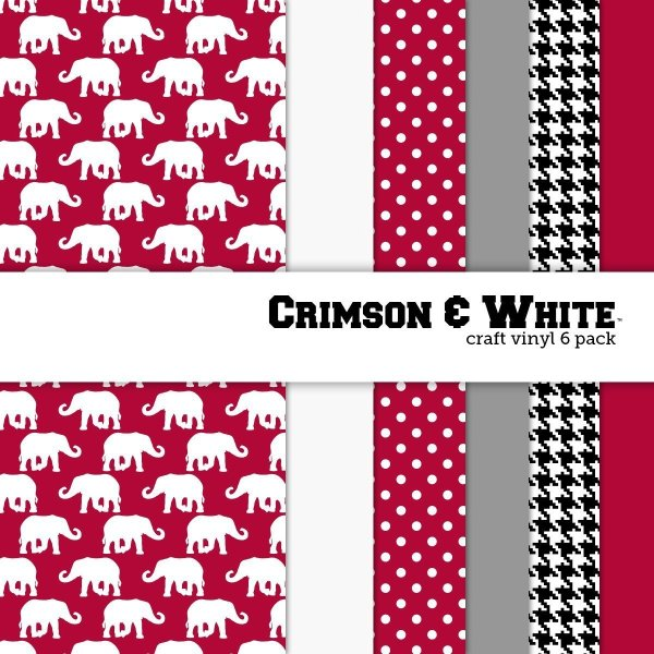 10 of the Coolest Kinds of Vinyl: College Themed -Crimson and White| www.kimberdawnco.com