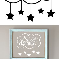 Hand Lettered Sweet Dreams Free SVG Cut File