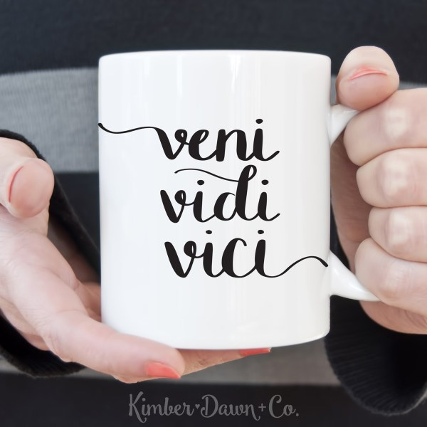 FREEBIE FRIDAY! Hand Lettered Veni Vidi Vici Free SVG Cut File (PNG, Studio3 included as well!) |KimberDawnCo.com