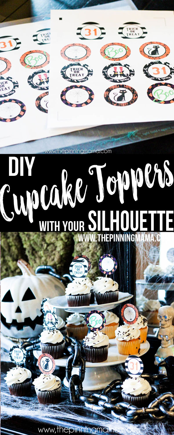Learn how to make custom cupcake toppers to match any theme or holiday to cut with your Silhouette CAMEO. Using clip art and digital paper you can create stunning designs easily in Silhouette Studio!
