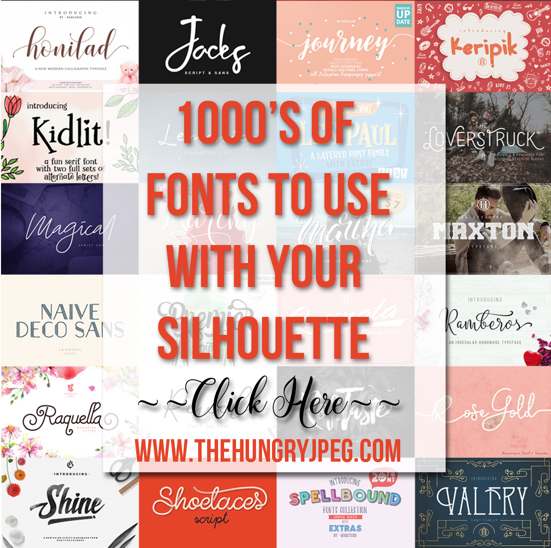 Great Fonts for Your Silhouette
