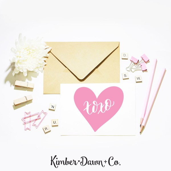 Hand Lettered XOXO Conversation Heart FREE SVG Cut File