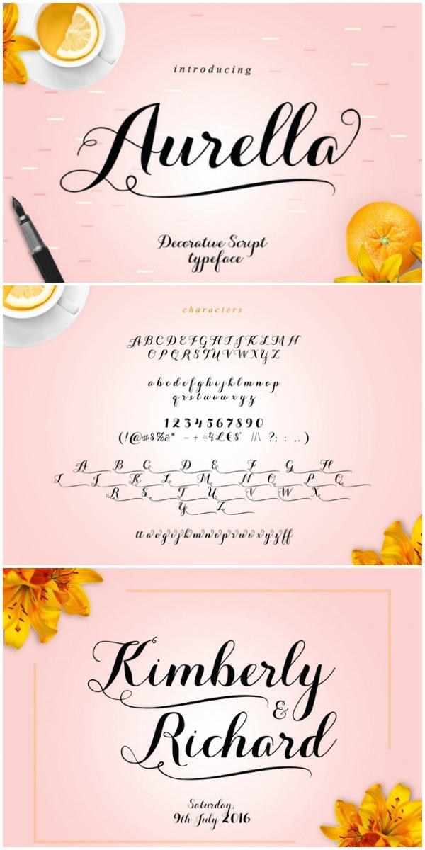 Aurella Font for Cutting