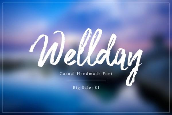 20 Hipster Fonts: Wellday | www.kimberdawnco.com