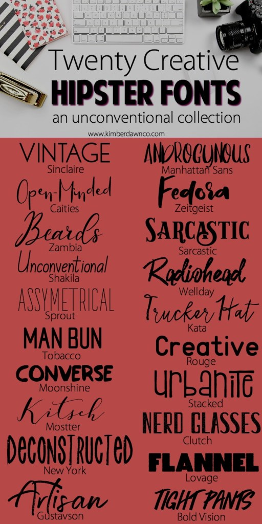20 Hipster Fonts