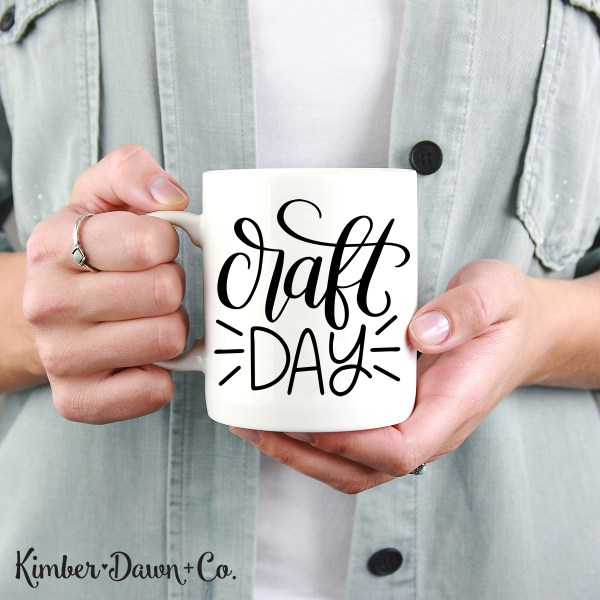 Hand Lettered Craft Day Free SVG Cut File