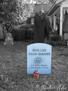 Harry Dresden's tombstone - from The Dresden Files book series by Jim Butcher