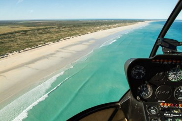 Scenic helicopter flight over Broome and Cable Beach