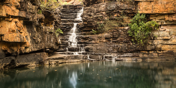 The bottom pool at Grevillea Gorge