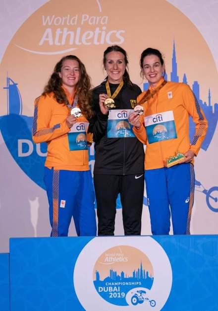 medaille foto wk paraatletiek 100m sprint t64