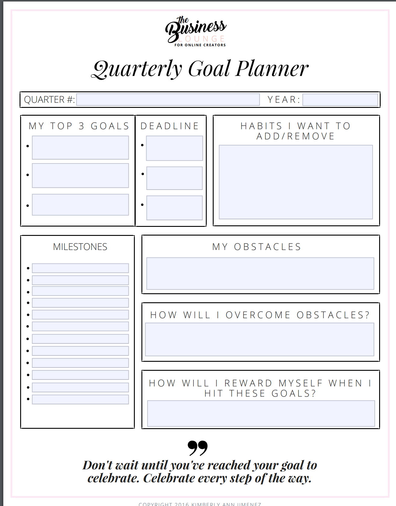 How To Review Your Quarterly Goals