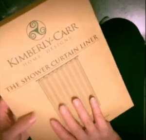 unboxing video of the shower curtain liner by kimberly-carr home designs