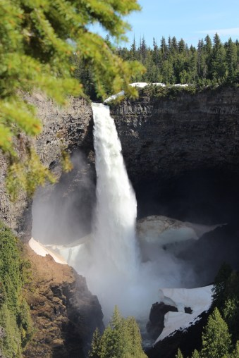 helmcken falls in clearwater british columbia