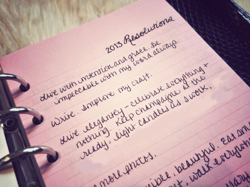 filofax - what's inside pink lined paper resolutions inspiraiton