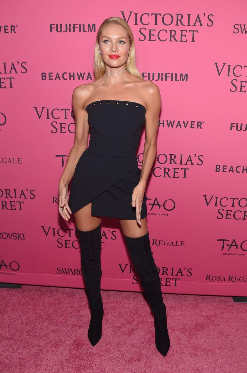 victorias secret 2015 fashion show candice swanepoel backstage pink carpet