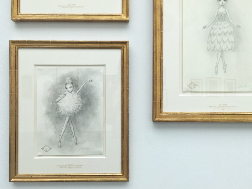 mark ryden whipped cream sketches paul kasmin gallery ballerinas