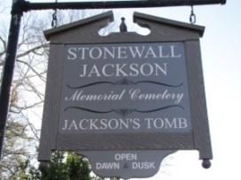 "sign ""Stonewall Jackson Memorial Cemetery Jackson's Tomb"""