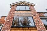 Oak shingles to two storey rear extention