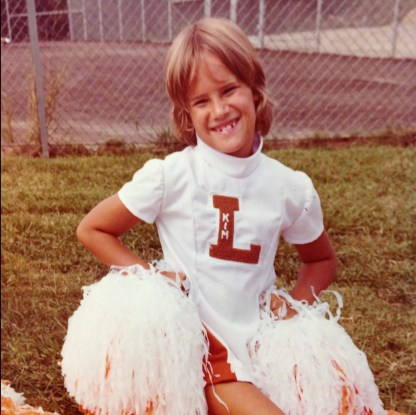 Sorry for the childhood cheer photos. I don't have any birthday ones!