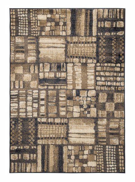 hillard black brown 8x10 rug