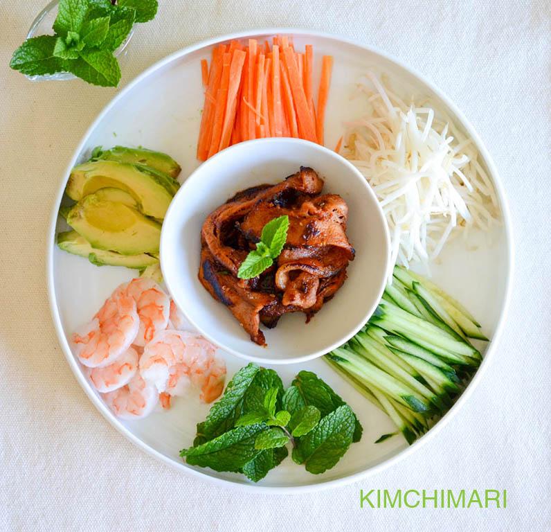 Ingredients for Pork Bulgogi Spring Rolls
