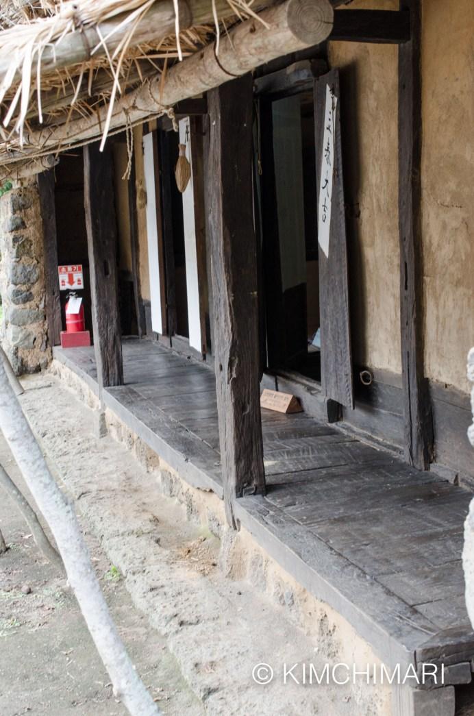 Porch (Teonmaru) in Korean Traditional Home (Hanok)