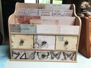 Decoupage Letter Rack March 2015
