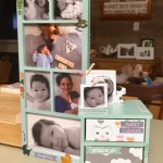 A paper crafted photo frame and mini drawer set