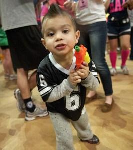 THON 2012 child with squirt gun