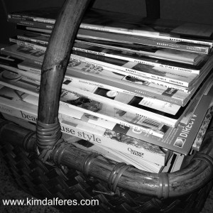 magazine stacks with website