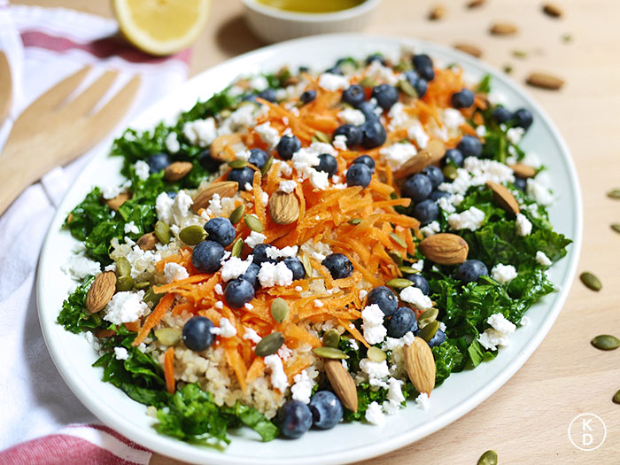 Kale & Blueberry Quinoa Salad | Kim D'Eon, Holistic Nutritionist