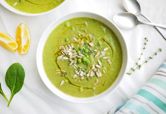 Kim D'Eon's Clean Green Pea Soup